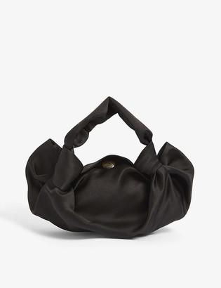 The Row Ascot small silk clutch bag