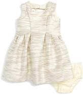Us Angels Metallic Stripe Sleeveless Dress (Baby Girls)