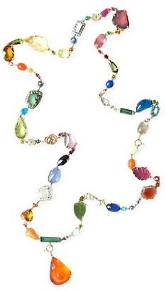 Sharon Khazzam Baby 18K Tri-Tone Gold & Multi-Stone Necklace