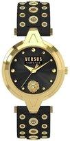 Versus By Versace VERSUS WOMEN'S EYELETS 34MM LEATHER BAND STEEL CASE QUARTZ WATCH SCI0316