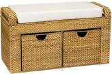Household Essentials Brown and Tan Storage Bench