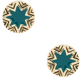 House Of Harlow Engraved Sunburst Stud