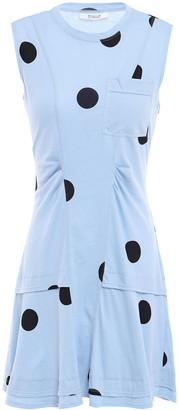 Derek Lam 10 Crosby Ruched Polka-dot Cotton-jersey Mini Dress