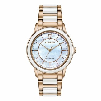 Citizen Women's Eco-Drive Watch with Stainless Steel and White Ceramic Strap