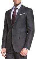 Ermenegildo Zegna Wool Striped Two-Piece Suit, Charcoal