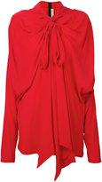 Marni shawl pussy bow blouse - women - Silk/Acetate - 42