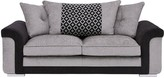 Carrara Fabric 3 Seater Scatter Back Sofa
