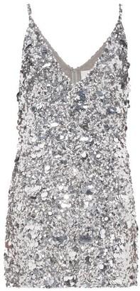 Ashish Sequinned Mini Dress - Womens - Silver