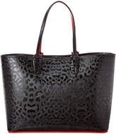 Christian Louboutin Cabata Leopard-Embossed Leather Tote