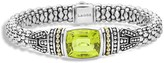 Lagos 18K Gold and Sterling Silver Caviar Color Bracelet with Green Quartz