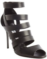 Jimmy Choo black strappy leather 'Dame' pumps