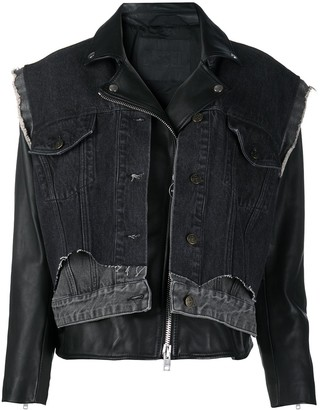 Diesel Layered Denim Sheepskin Jacket