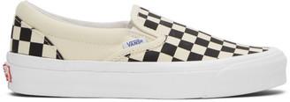 Vans Black and White OG Classic Slip-On Sneakers