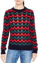 Sandro Jessie Chevron Sweater