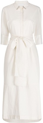Fabiana Filippi Waist-Tied Shirt Dress