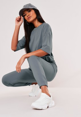 Missguided Blue T Shirt And Jogger Co Ord Set