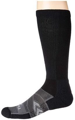 Thorlos 12-Hr Shift Work Sock Over Calf Single Pair (White/Grey) Crew Cut Socks Shoes