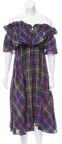 Michel Klein Linen Printed Dress w/ Tags