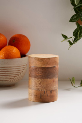 Large Wooden Canister