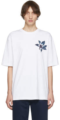 Acne Studios White Flower Erian T-Shirt