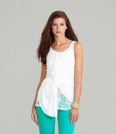 Gibson & Latimer Draped-Front Top