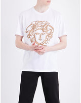 Versace Medusa-print Cotton-jersey T-shirt