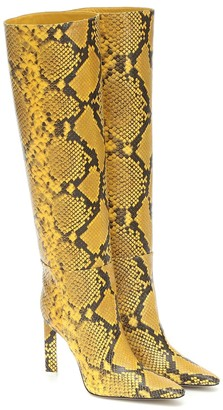 ATTICO Snake-effect leather knee-high boots