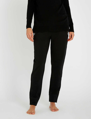 The White Company Zip detail strech-cotton jogging bottoms