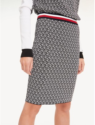 Tommy Hilfiger Monogram Pencil Skirt