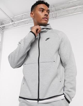 Nike Tech fleece zip through hoodie in grey