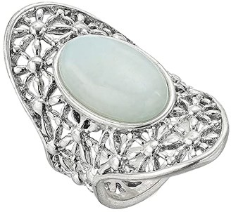 Lucky Brand Basketweave Openwork Ring (Silver) Ring