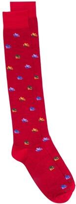 Etro Logo-Pattern Jacquard Socks