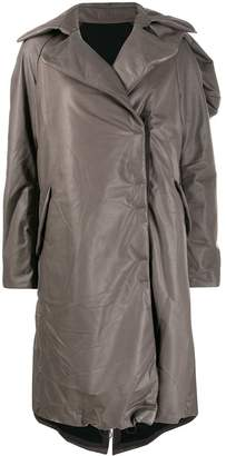 Isaac Sellam Experience concealed fastening leather trench