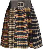 Chopova Lowena check pleated skirt