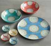 Pottery Barn Elsa Medallion Melamine Snack Bowl, Mixed Set of 4