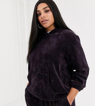 Nike Plus burgundy cord hoodie