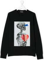 DSQUARED2 skeleton print top