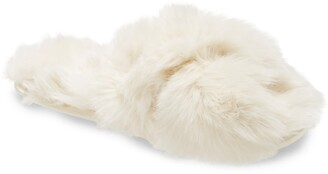Rachel Parcell Faux Fur Slipper