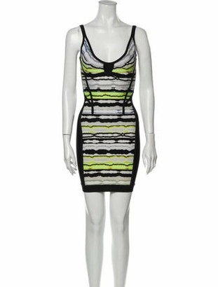 Herve Leger Rachael Mini Dress Yellow