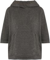 Brunello Cucinelli Cashmere and cotton-blend hooded sweatshirt