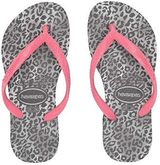 Havaianas Slim Leopard Flip-Flop (Toddler/Little Kid/Big Kid) (Black) Girl's Shoes