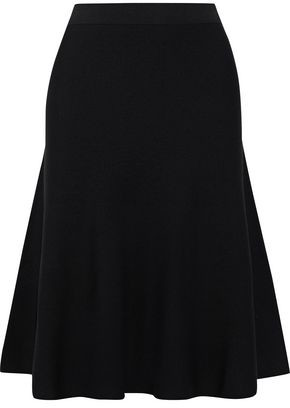 Iris & Ink Keki Flared Stretch-knit Skirt