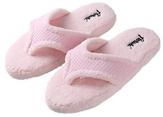 Sumaclife Women'S Luxurious Soft Plush Thong Slippers With No-Slip Rubber Sole