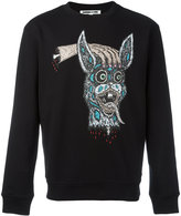 McQ by Alexander McQueen decapitated bunny print sweatshirt - men - Cotton - M