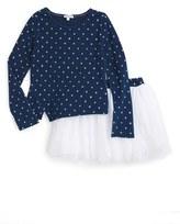 Splendid Girl's Star Top & Tutu Skirt Set