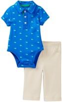 Little Me Whale Icon Polo Pant Set (Baby Boys)
