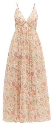 Loup Charmant Adelaide Liberty Print Cotton Dress - Womens - Pink
