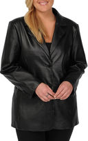 JCPenney Excelled Leather Excelled Nappa Leather 2-Button Blazer