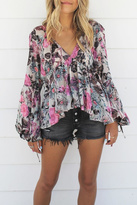 For Love & Lemons Burnout Cadence Blouse