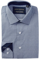 Report Collection Dot Slim Fit Stretch Dress Shirt